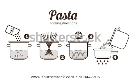 Spaghetti in saucepan cook. Cooking pasta in pan Stock photo © popaukropa