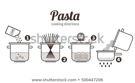 спагетти кастрюля Кука приготовления пасты Сток-фото © popaukropa