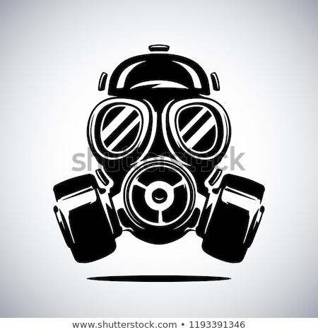 防毒マスク 孤立した ベクトル アイコン ガス ほこり ストックフォト © robuart
