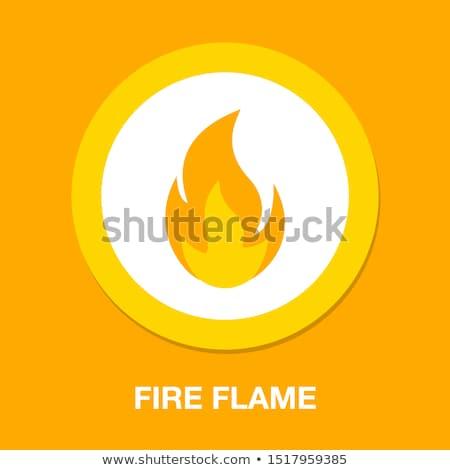 ストックフォト: 火災 · 難 · デザインテンプレート · デザイン · オレンジ · 赤