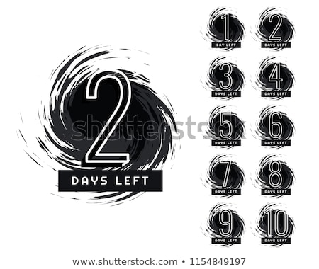 abstract number of days left grunge label Stock photo © SArts