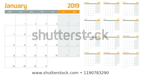 2019 August Printable Calendar Template Stock photo © ivaleksa