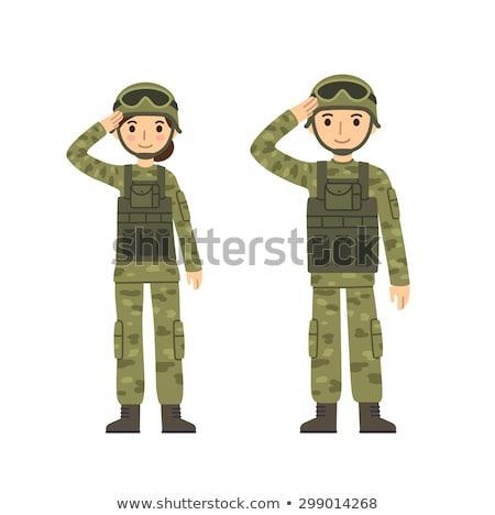 vrouwelijke · speciaal · krachten · aantrekkelijk · meisje · camouflage - stockfoto © MilanMarkovic78
