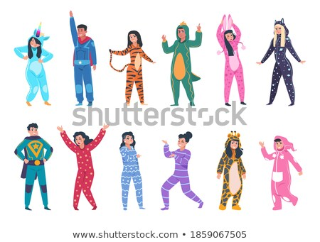 Superhero - modern cartoon people character colorful illustration Stock photo © Decorwithme