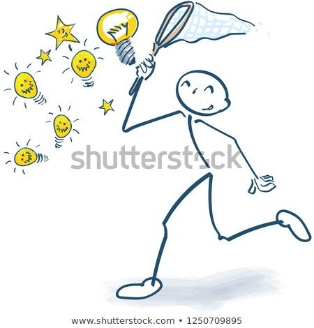 Stick figure catching with a landing net, Stock photo © Ustofre9