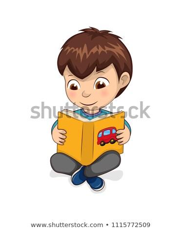 Stok fotoğraf: Erkek · okuma · sarı · kitap · sakin · mutlu