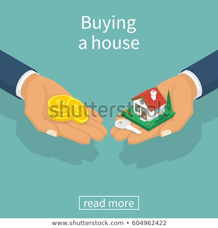 Investment in property isometric flat vector concept. Stock photo © TarikVision