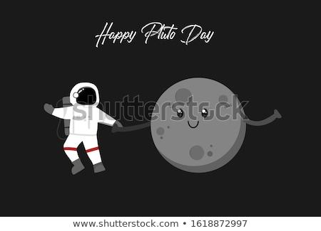 Cartoon Плутон Идея иллюстрация счастливым льда Сток-фото © cthoman