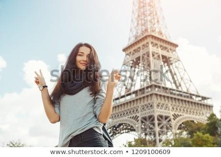 молодые привлекательный счастливым женщину мира Сток-фото © artfotodima