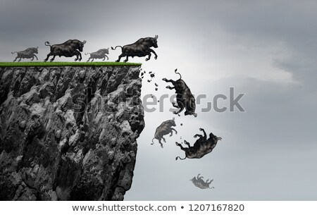 Falling Bull Market Stock photo © Lightsource