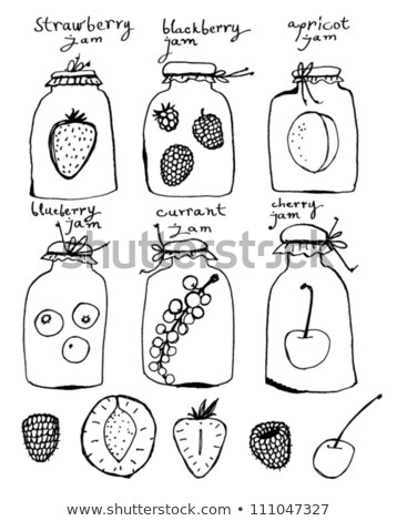 Home Canning Fruit or Berry Compote Illustration Stock photo © robuart