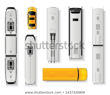 Realistic trolleybus vector illustration Stock photo © YuriSchmidt