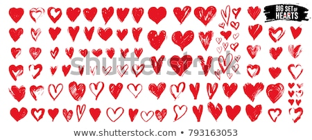 Big Heart Grunge Valentine Card Stock photo © swatchandsoda