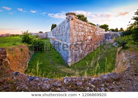 Defense stone walls and trench in Pula view Stock photo © xbrchx