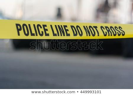 黄色 警察 行 しない クロス 犯罪現場 ストックフォト © -TAlex-