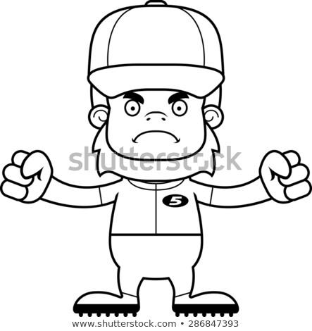 Cartoon Angry Baseball Player Sasquatch Stock photo © cthoman