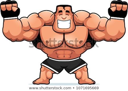 Cartoon истребитель иллюстрация спортивных мужчин Сток-фото © cthoman