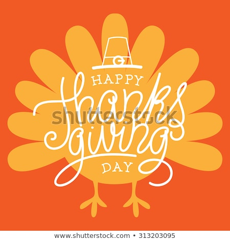 Happy Thanksgiving Day Meal Poster Text Vector Stock photo © robuart
