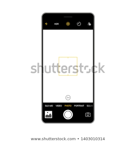 Smartphone poziomy kamery szablon przyciski telefonu Zdjęcia stock © romvo