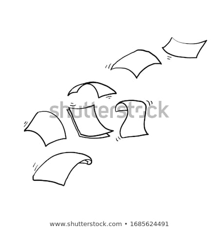 Office Paper Document Page Icons Set Sketch Vector Stock photo © robuart