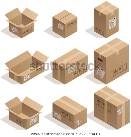 Parcel with Adhesive Tape 3D Isometric Icon Vector Stock photo © robuart