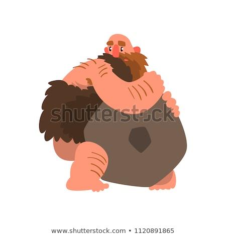 Cartoon Caveman Hug Stock photo © cthoman