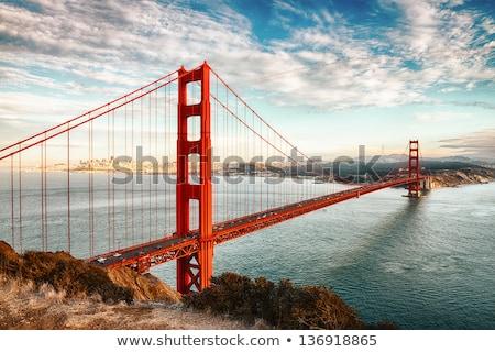 Golden Gate Bridge pôr do sol San Francisco Califórnia EUA ocidente Foto stock © vichie81
