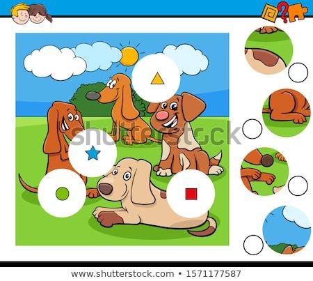 Match educativo compito cartoon illustrazione Foto d'archivio © izakowski