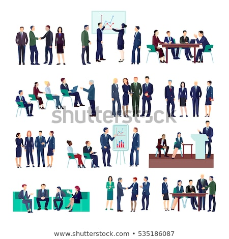 finance achievements businessman working set stock photo © robuart