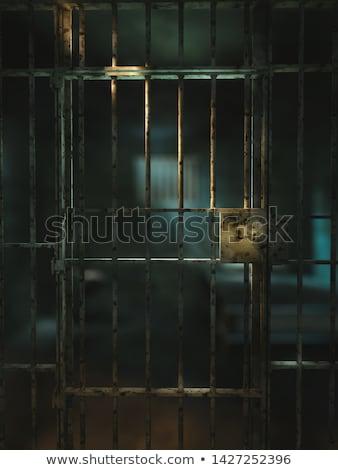 3d prisoner inside keyhole Stock photo © 3dmask