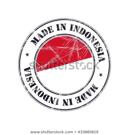 Zászló Indonézia különböző keret illusztráció terv Stock fotó © colematt