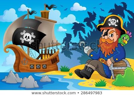 пиратских · древесины · океана · пушки · судно · ретро - Сток-фото © clairev