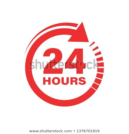 Support 24 hours flat icon Stock photo © smoki