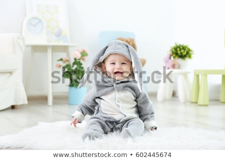 cute little easter baby bunny stock photo © anna_om