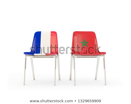 Two chairs with flags of France and morocco Stock photo © MikhailMishchenko