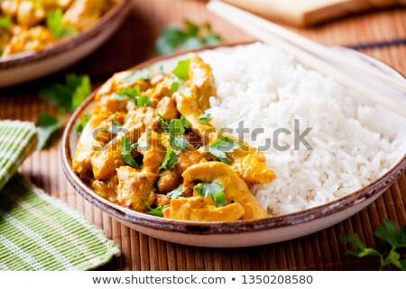 yemek · kişniş · tohumları · plaka · iç - stok fotoğraf © mpessaris