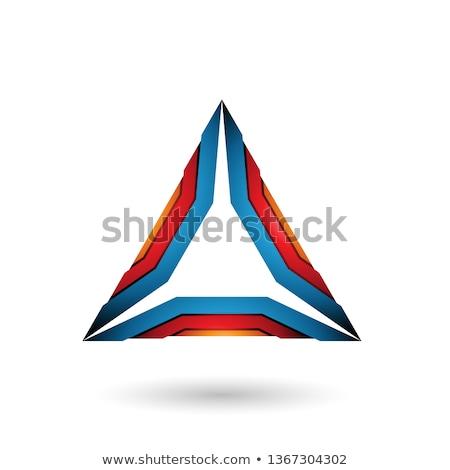 Naranja rojo azul mecánico triángulo vector Foto stock © cidepix