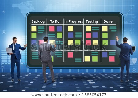 Stock photo: Businessman in agile methods concept