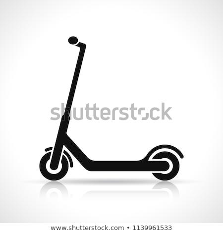 Rúgás moped izolált fehér város sport Stock fotó © Arkadivna