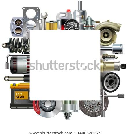 вектора · автомобилей · кадр · изолированный · белый · ключевые - Сток-фото © dashadima
