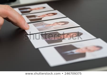 写真 候補者 表示 木製 ストックフォト © AndreyPopov