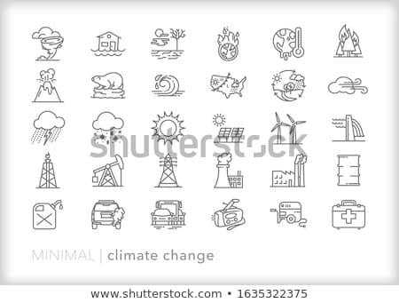 Factory in weather storm Stock photo © bluering