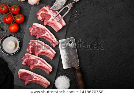 vers · ruw · lam · rundvlees · steen · boord - stockfoto © denismart