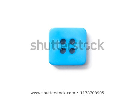 A green button on white background Stock photo © bluering