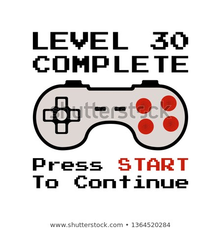 happy 30th birthday graphic tee design for t shirts posters prints retro video gamers controller stock photo © jeksongraphics