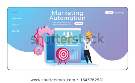Marketing automatisering landing pagina bericht Stockfoto © RAStudio