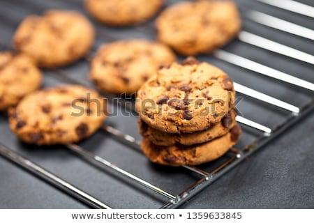 Grille cookies tableau noir haut vue Photo stock © marylooo