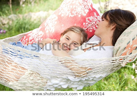 Mother And Daughter Lying On Hammock Stock photo © AndreyPopov