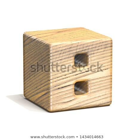 Solid wooden cube font Number 8 EIGHT 3D Stock photo © djmilic