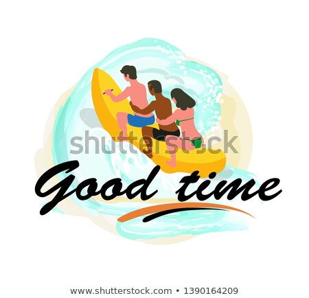 Summer Good Time, People on Water Banana Vector Stock photo © robuart